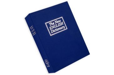 Bulldog Cases Deluxe BLUE Diversion Book Safe w/ combo lock and foam interior Exterior Size 10.6in x 7.7in x 2.5in  Interior Size 9.3in x 6.7in x 2in BD1180