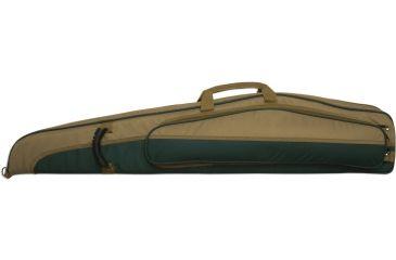 Bulldog Hybrid ''Magnum'' Rifle Case 44'' Green w/ Tan Trim BD266-44