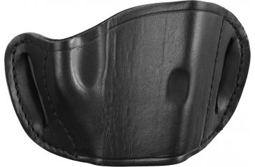 Bulldog Cases Molded Leather Belt Slide Holster - Large, Black MLB-L