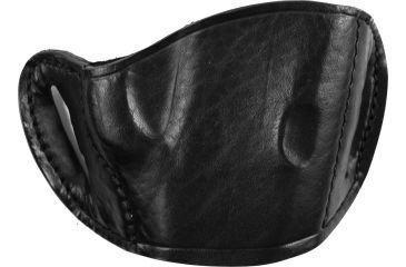 Bulldog Cases Molded Leather Belt Slide Holster - Medium, Black MLB-M