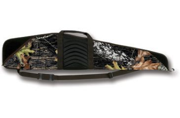 Bulldog Cases Pinnacle 44-inch Rifle Case -RealTree Camo With Brown Trim & Black Leather BD205-44