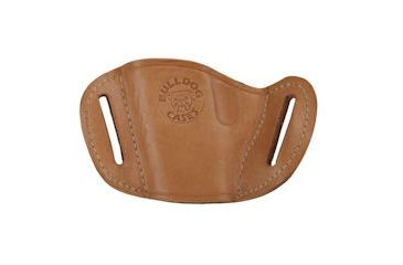 Bulldog Cases Small- left hand tan molded leather belt slide holster Fits small frame revolvers 2-4in barrells, S&W J & Model 85 MLTL-RS