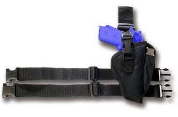 Bulldog Right Hand Black Tactical Leg Holster - Size 8 WTAC-8