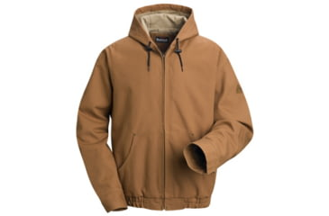 Bulwark Brown Duck Lineman Hooded Jacket with Lanyard Access, Excel FR ComforTouch, Brown Duck, RGS JLH4BDRGS