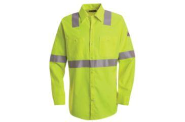 Bulwark Hi-Visibility Flame-Resistant Work Shirt-Long Sleeve, Men, SMW4HV, LNL SMW4HVLNL