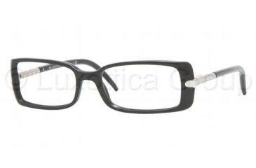 15239ab3dc Burberry BE2064 SV Prescription Eyeglasses - Shiny Black Demo Lens Frame    50 mm Prescription Lenses