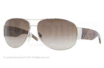 Burberry BE3020M 61 BE3020M Single Vision Prescription Sunglasses BE3020M-100513-64 - Lens Diameter 64 mm, Frame Color Silver