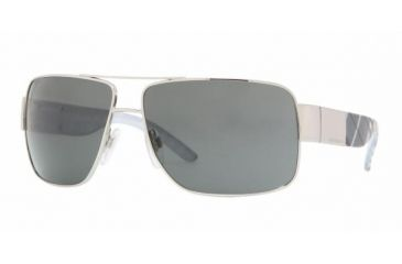 Burberry BE 3040 Sunglasses Styles Silver Frame / Gray Lenses, 100587-6113