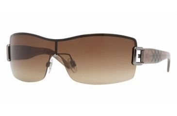 Burberry BE 3043 Sunglasses Styles Gunmetal Frame / Brown Gradient Lenses, 100313-0131