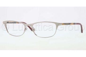 Burberry BE1249 Eyeglass Frames 1006-5117 - Dark Silver Frame