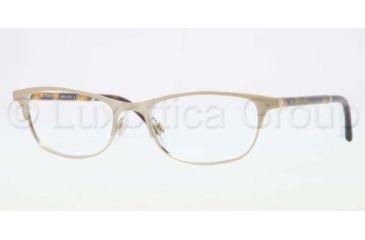 Burberry BE1249 Eyeglass Frames 1167-5117 - Brushed Burberry Gold Frame, Demo Lens Lenses