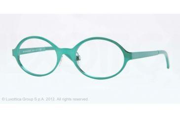 Burberry BE1254 Single Vision Prescription Eyeglasses 1177-50 - Green Frame, Demo Lens Lenses