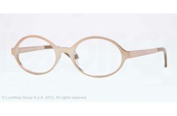 Burberry BE1254 Single Vision Prescription Eyeglasses 1185-50 - Brown Frame, Demo Lens Lenses