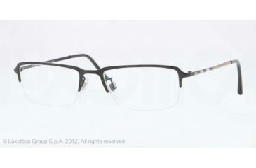 Burberry BE1257 Single Vision Prescription Eyeglasses 1007-53 - Matte Black Frame, Demo Lens Lenses