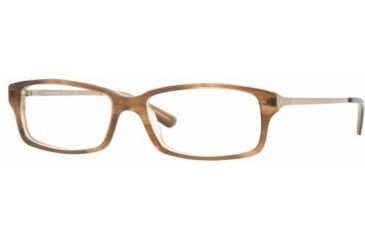 Burberry BE2075 #3083 - Brown Striped On Beige Demo Lens Frame