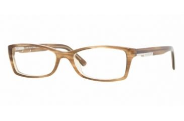 Burberry BE2076 #3083 - Brown Striped On Beige Demo Lens Frame