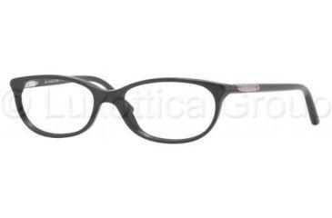 Burberry BE2097 Single Vision Prescription Eyewear 3001-5015 - Shiny Black