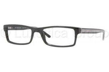Burberry BE2105 Single Vision Prescription Eyeglasses 3286-5217 - Black Frame