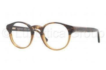 Burberry BE2115 Single Vision Prescription Eyeglasses 3327-4821 - Havana Brown Gradient Frame, Demo Lens Lenses