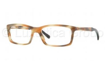 Burberry BE2117 Single Vision Prescription Eyeglasses 3334-5518 - Striped Havana Frame