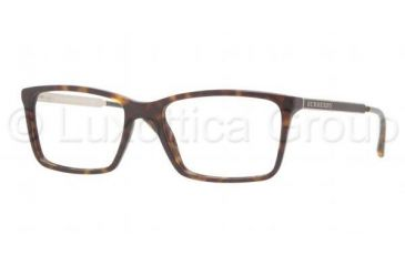 Burberry BE2126 Single Vision Prescription Eyeglasses 3002-5217 - Dark Havana Frame