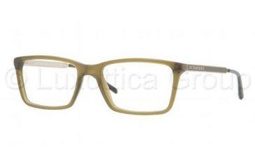 Burberry BE2126 Prescription Eyeglasses 3360-5217 - Matte Olive Frame, Demo Lens Lenses