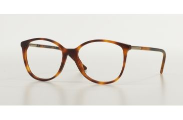 1e9e45da88 Burberry BE2128 Single Vision Prescription Eyeglasses 3316-5216 - Havana  Frame