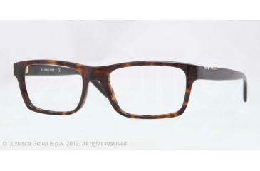 Burberry BE2138 Single Vision Prescription Eyeglasses 3397-53 - Dark Havana Frame, Demo Lens Lenses