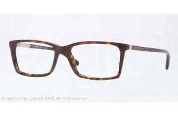 Burberry BE2139 Eyeglass Frames 3002-52 - Dark Havana Frame, Demo Lens Lenses