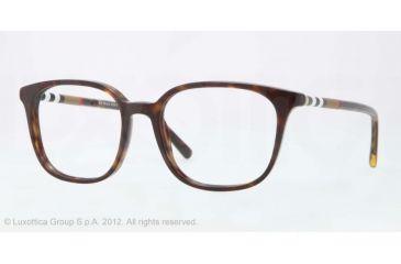 Burberry BE2140 Progressive Prescription Eyeglasses 3002-52 - Dark Havana Frame, Demo Lens Lenses