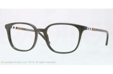 Burberry BE2140 Progressive Prescription Eyeglasses 3392-52 - Dark Green Frame, Demo Lens Lenses