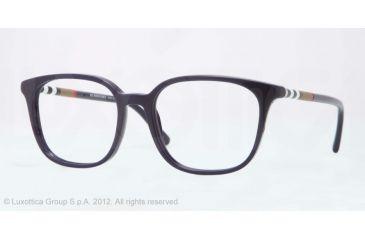 Burberry BE2140 Progressive Prescription Eyeglasses 3399-52 - Blue Frame, Demo Lens Lenses