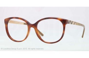 Burberry BE2142 Eyeglass Frames 3316-51 - Havana Frame, Demo Lens Lenses