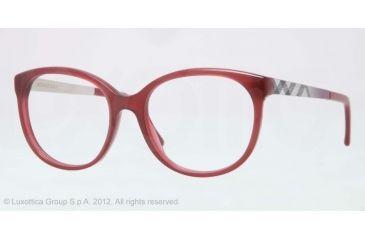 Burberry BE2142 Bifocal Prescription Eyeglasses 3402-51 - Bordeaux Frame, Demo Lens Lenses