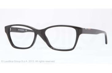 Burberry BE2144 Single Vision Prescription Eyeglasses 3001-51 - Black Frame