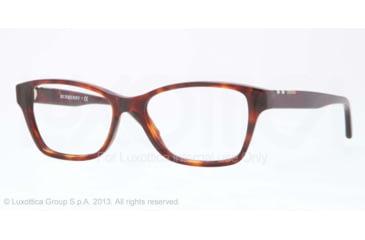 Burberry BE2144 Single Vision Prescription Eyeglasses 3349-51 - Havana Frame