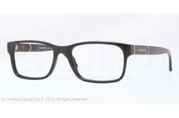 Burberry BE2150 Single Vision Prescription Eyeglasses 3001-53 - Black Frame