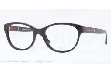 Burberry BE2151 Eyeglass Frames 3001-52 - Black Frame
