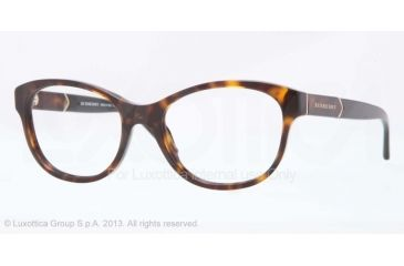 Burberry BE2151 Eyeglass Frames 3002-52 - Dark Havana Frame