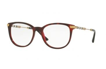 264ec5ab4a Burberry BE2255Q Eyeglass Frames 3657-51 - Top Havana On Bordeaux Frame