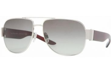 Burberry BE3042 #100511 - Silver Frame, Gray Gradient Lenses
