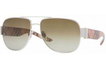 Burberry BE3042 #100513 - Silver Frame, Brown Gradient Lenses