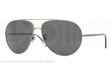 Burberry BE3055 Single Vision Prescription Sunglasses BE3055-101487-60 - Lens Diameter 60 mm, Lens Diameter 60 mm, Frame Color Matte Gunmetal