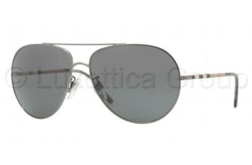 Burberry BE3055 Single Vision Prescription Sunglasses BE3055-105787-6014 - Lens Diameter 60 mm, Frame Color Dark Nickel
