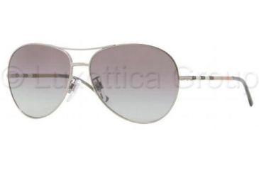 Burberry BE3056 Single Vision Prescription Sunglasses BE3056-100611-5713 - Frame Color Gray, Lens Diameter 57 mm