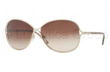 Burberry BE3066 Sunglasses 116513-6013 - Burberry Gold Frame, Brown Gradient Lenses