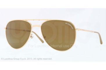Burberry BE3071 Single Vision Prescription Sunglasses BE3071-10175A-57 - Lens Diameter 57 mm, Frame Color Gold