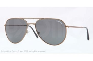Burberry BE3071 Single Vision Prescription Sunglasses BE3071-106187-57 - Lens Diameter 57 mm, Lens Diameter 57 mm, Frame Color Brown