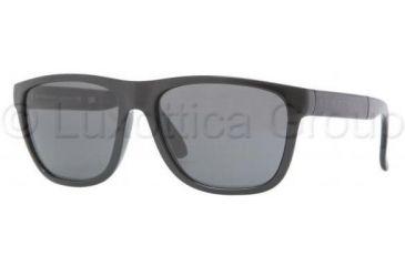 Burberry BE4106 Single Vision Prescription Sunglasses BE4106-300187-5617 - Lens Diameter 56 mm, Frame Color Shiny Black