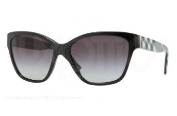 Burberry BE4109 Prescription Sunglasses BE4109-30018G-57 - Lens Diameter 57 mm, Frame Color Black